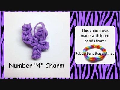 Rainbow Loom Band Number Charms - Made Without Loom