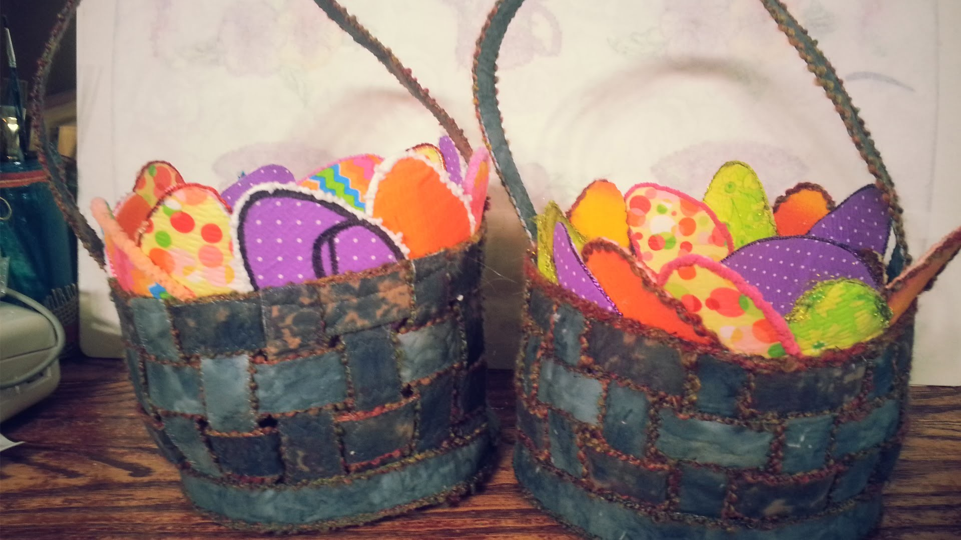 Sewing an Easter Egg Basket Casserole Dish Insulator - Episode 5