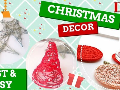 [Tutorial #20] DIY ✁ Decorazioni natalizie | Christmas decorations ♡