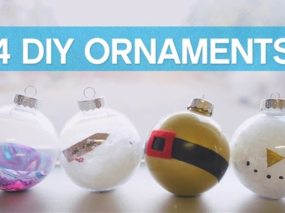 ✂ 4 DIY Christmas Ornament Ideas