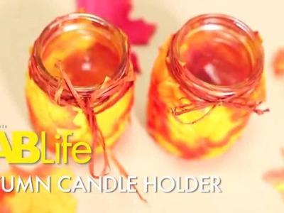 DIY Autumn Candle Holder