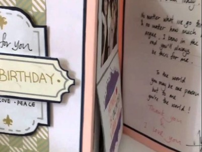DIY birthday card for MOM (part2)