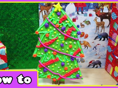 DIY Christmas Crafts | Doh Vinci Christmas Tree | Amazing Play Doh Creations by HooplaKidz How To