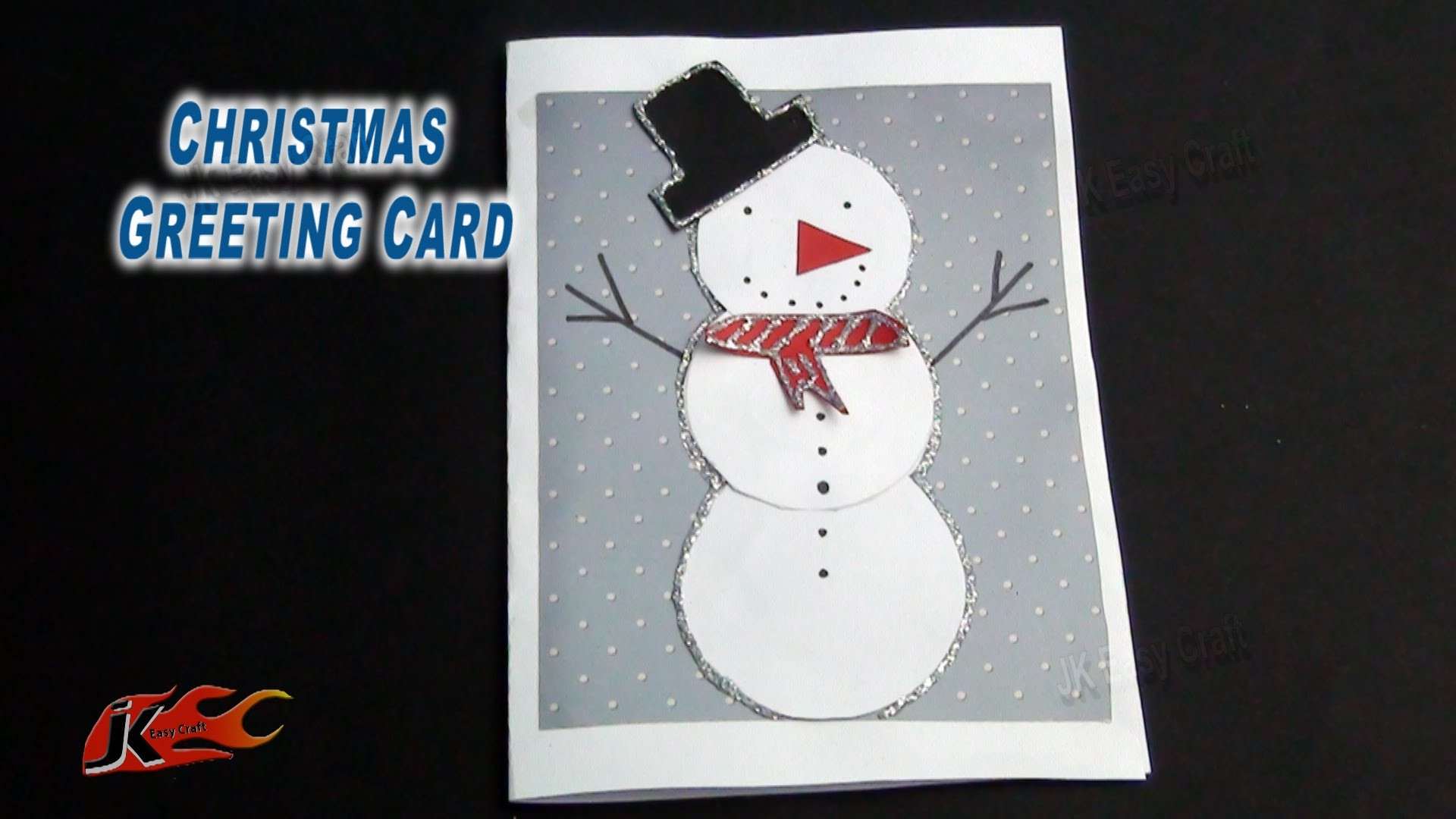 DIY Christmas Snowman Greeting Card | How to make |  JK Easy Craft 089