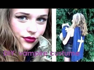 Diy: halloween vampire costume + makeup