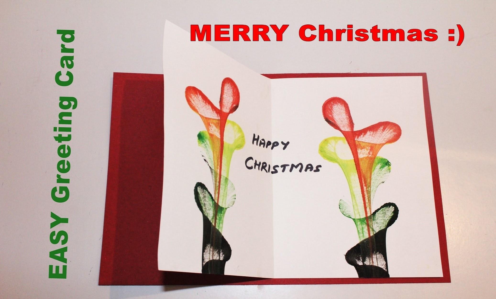 Diy How To Make Greeting Card For Christmas 2015 Christmas