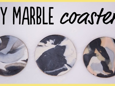 DIY | How to Make Marble Coasters from Clay (SO Easy!)