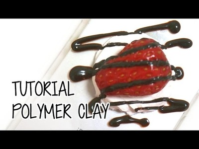 DIY Realistic Strawberries Polymer Clay tutorial いちご粘土のつくりかた