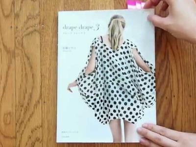 Drape Drape 3: Japanese sewing pattern book review | draped dresses