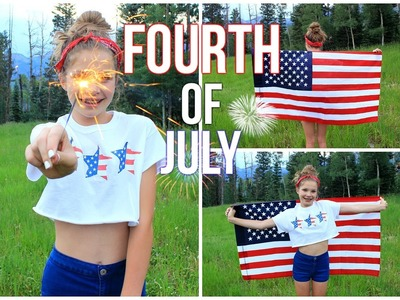 Fourth of July Treats, Hair, Makeup, and Diy Shirt