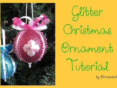 Glitter Christmas Ornament Tutorial