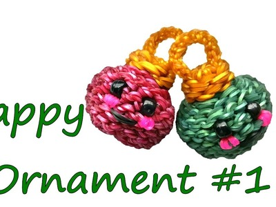 Happy Ornament #1 Tutorial by feelinspiffy (Rainbow Loom)