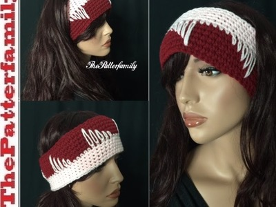 How to Crochet Earwarmers. Headband Pattern #27 │by ThePatterfamily