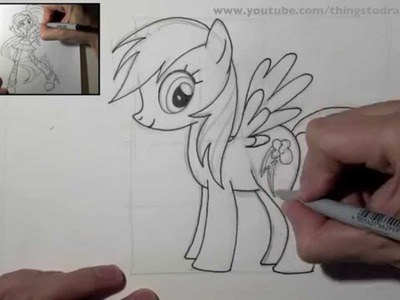 How to draw Rainbow Dash step by step