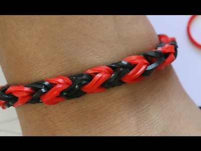How To Make Rainbow Loom Fishtail Bracelet By 2 Fingers.Easy Way Without Loom.Snake tail