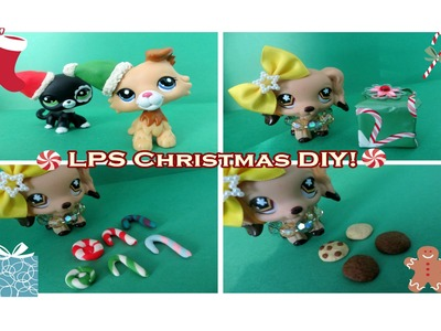 LPS Christmas DIY! Santa Hats, Presents, Candy Canes, and Cookies!