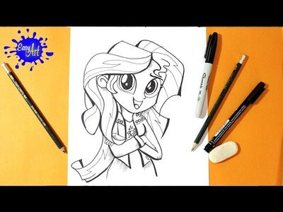 My little pony - Como dibujar sunset shimmer - Equestria Girls Rainbow Rocks - sunset shimmer