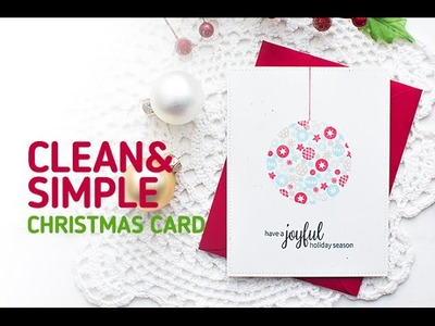 Neat and Tangled: How to Make a Clean and Simple Christmas Card