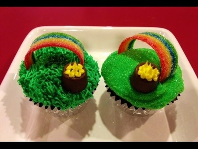 Over the Rainbow Cupcakes - Pot of Gold - St. Patrick's Day