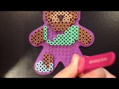 Perler beads doodling a bear!!