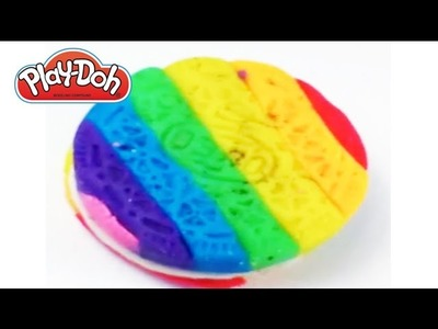 Play-Doh How to make OREO rainbow COOKIES by Toys Play Doh & Surprise Eggs