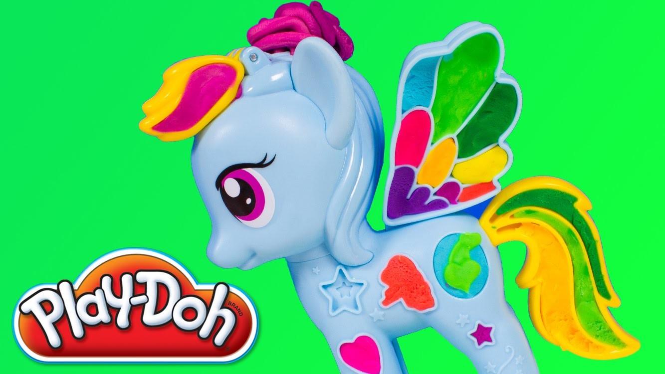 Play-Doh My Little Pony Rainbow Dash Style Salon Playset MLP Playdough Toy Videos