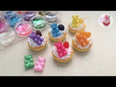 Rainbow gummy-bear tarts ♥