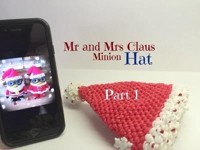 Rainbow Loom HAT Mr and Mrs Claus Minions Part 1 - Loomigurumi - Amigurumi Hook Only