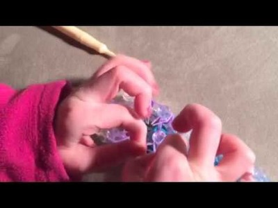 Rainbow Loom Poppy Keychain