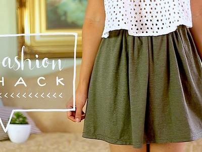 Transform a TSHIRT Into a SKIRT! | DIY Fall Clothes ♥ Alejandra's Styles