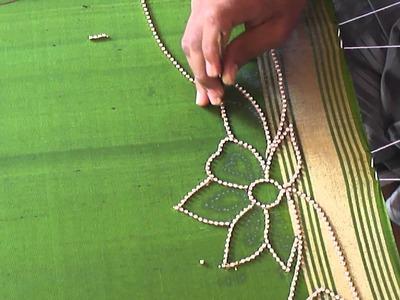 A full Design of Paani chain in Aari or Maggam work   tutorial 1
