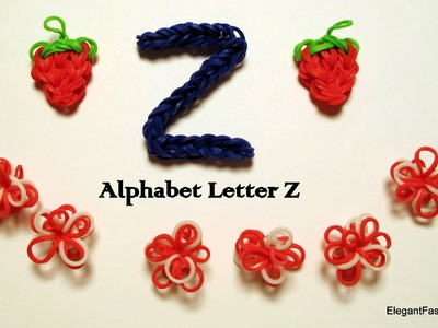 Alphabet Letter Z on Rainbow Loom