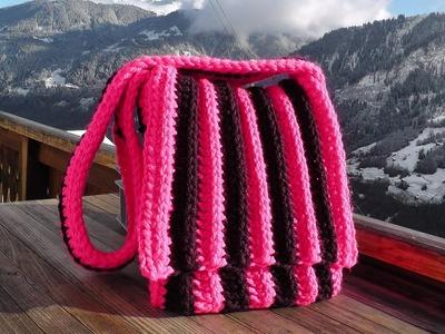 Bag crochet pattern for left handed Schachenmayr Bravo Big