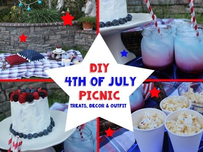 DIY 4th of July Picinc! Treats, Decor & Outfit!