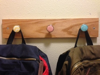 DIY Coat Rack Made From Drawer Pulls