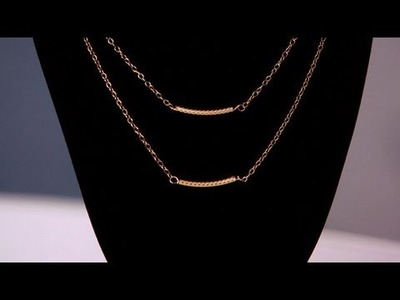 DIY Fashion | Make Your Own Gold Necklace | Fashion How To