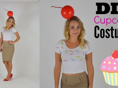 DIY Ice Cream Cupcake Halloween Costume