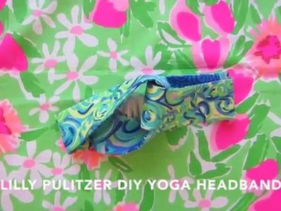 DIY Lilly Pulitzer Yoga Wrap Headband Tutorial + GIVEAWAY (read below)