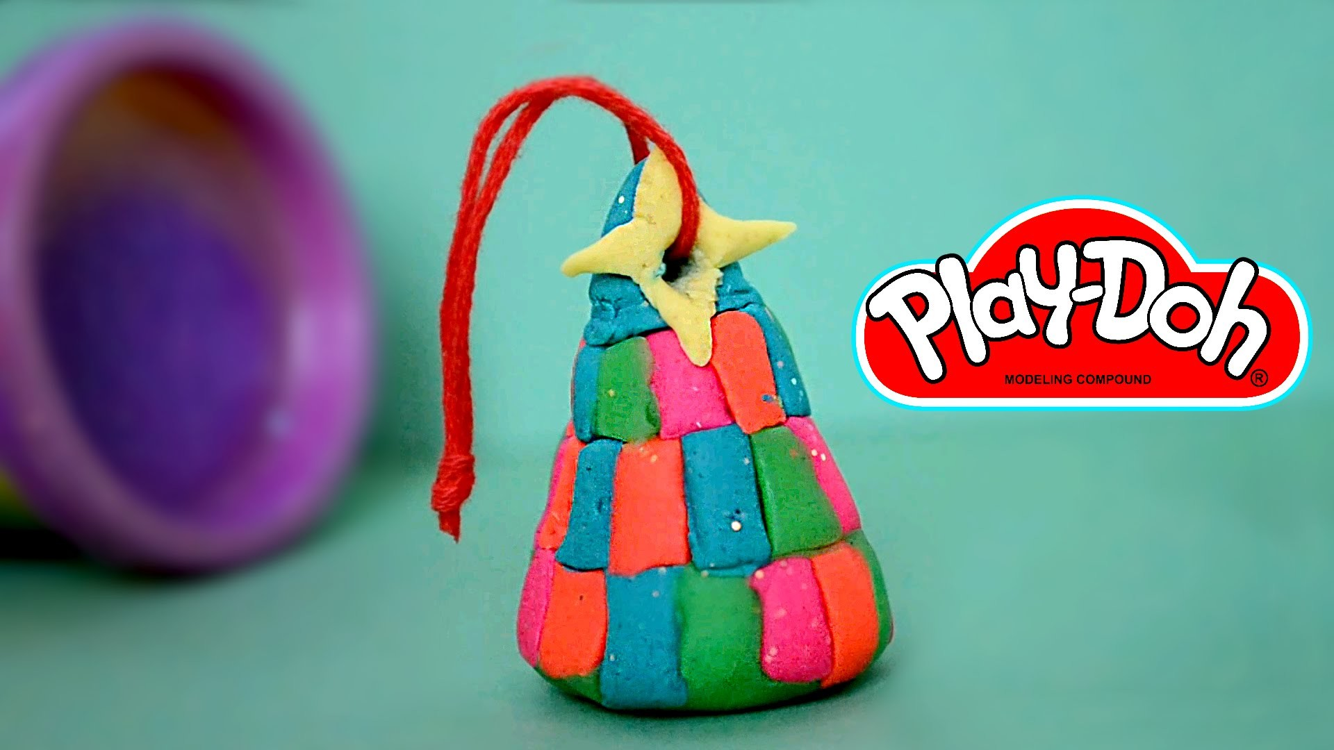 DIY Play-Doh Christmas tree ornament