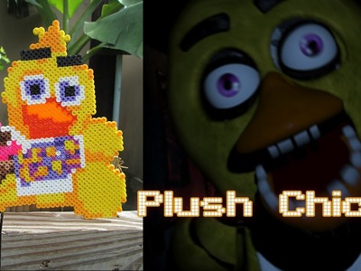 DIY: Plush Chica from FNAF | Bead Sprites (Perler.Hama Beads)