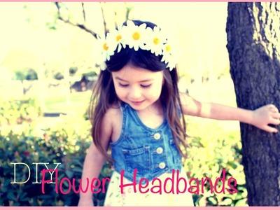 DIY-Spring flower headbands