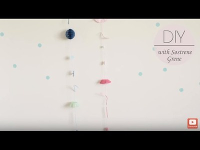 DIY: Wall hangings from party leftovers by Søstrene Grene