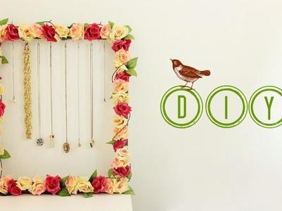 Easy DIY Flower Necklace Frame | Jewellery Holder | Jtru