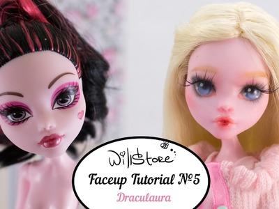 Faceup Tutorial №5 OOAK Draculaura repaint custom doll