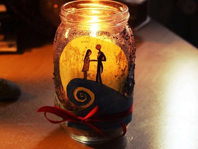 How To Create A Jack And Sally Jar - DIY Crafts Tutorial - Guidecentral