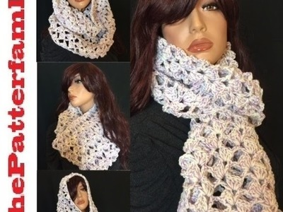 How to Crochet Infinity Scarf Pattern #30│by ThePatterfamily