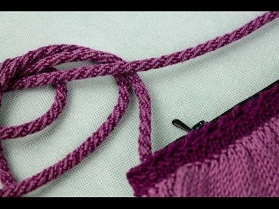 How to make a bag handle. Kumihimo braid.