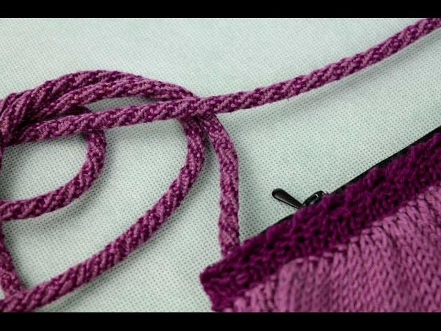How to make a bag handle. Kumihimo braid.