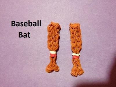 How to Make a Baseball Bat Charm on the Rainbow Loom - Original Design