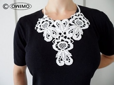 How to make a Lace Necklace - OWIMO Design Upcycling